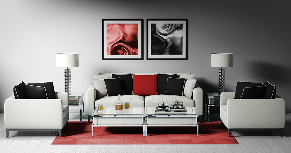 Black Color「Modern Living Room (17:9)」:スマホ壁紙(13)
