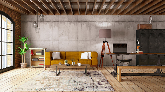 Branch - Plant Part「Modern Living Room with Sofa」:スマホ壁紙(4)