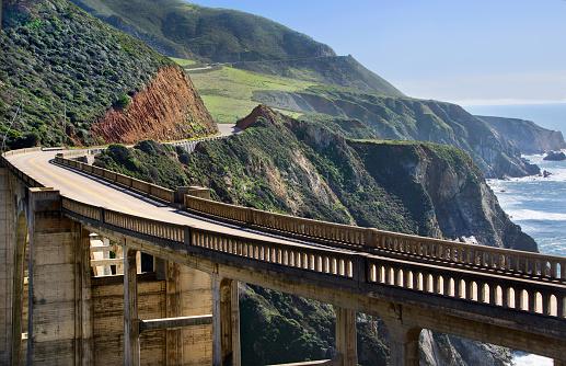 California State Route 1「Bixby Bridge」:スマホ壁紙(17)