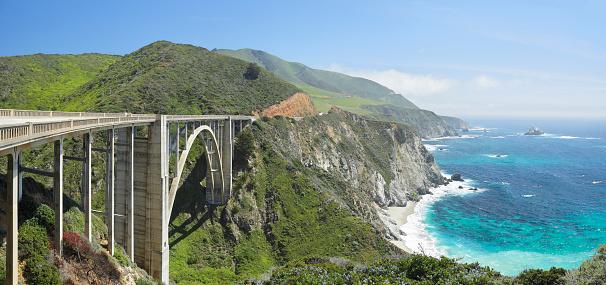 Monterey Peninsula「Bixby Bridge and Big Sur coastline」:スマホ壁紙(11)