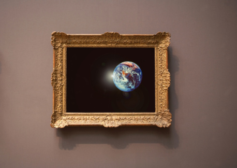 Brown Background「farmed photograph of earth seen from space.」:スマホ壁紙(18)