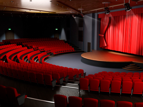 Stage - Performance Space「Theater hall with empty seats」:スマホ壁紙(2)