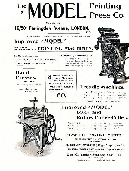 Model - Object「The Model Printing Press Co, 1910」:写真・画像(19)[壁紙.com]