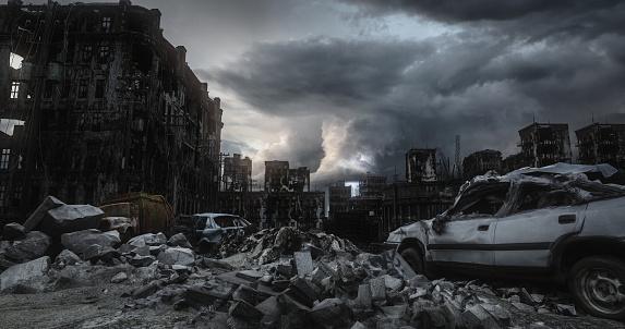 Ruined「Post Apocalypse Urban Landscape」:スマホ壁紙(11)