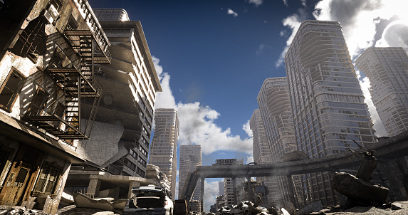 Earthquake「Post Apocalypse Urban Landscape (Day)」:スマホ壁紙(14)