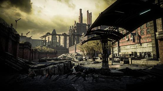 Battle「Post Apocalyptic Industrial Scenery」:スマホ壁紙(17)