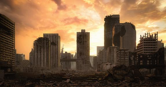 Earthquake「Post Apocalyptic Urban Landscape (Dusk)」:スマホ壁紙(11)