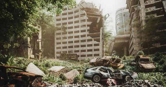 Deterioration「Post Apocalyptic Urban Landscape」:スマホ壁紙(0)