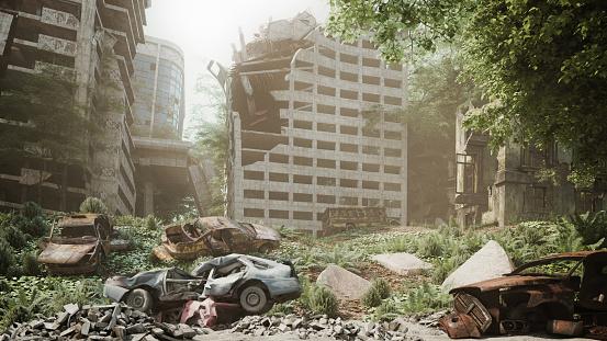 Extinct「Post Apocalyptic Urban Landscape」:スマホ壁紙(18)