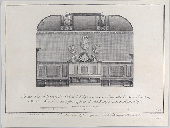 Wood Paneling「Plate 1: Cross-Section Of The Hall Of The Institute Of Bologna」:写真・画像(5)[壁紙.com]