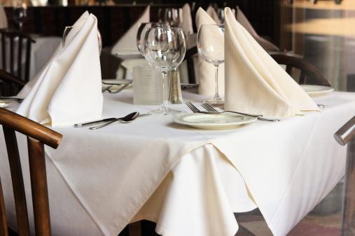 Gourmet「Restaurant Table Setting Linens Glasses Silverware」:スマホ壁紙(11)