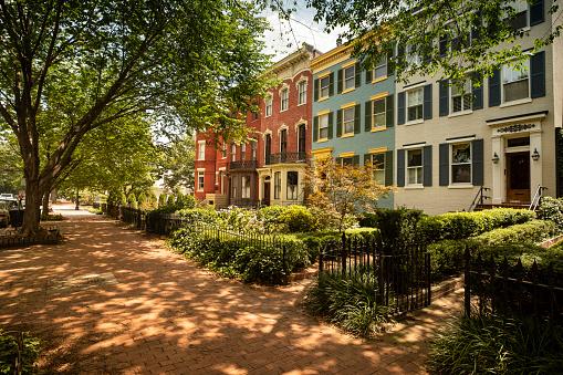 Politics「Capitol Hill historic community in Washington DC USA」:スマホ壁紙(12)
