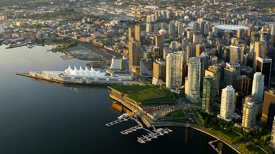 British Columbia「Modern cityscape with Canada Place」:スマホ壁紙(3)