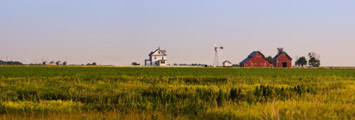Mill「USA, Nebraska, farm at sunset」:スマホ壁紙(7)
