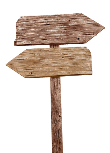Traffic Arrow Sign「Vintage wooden road sign pointing in different directions」:スマホ壁紙(8)