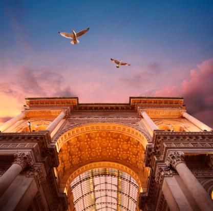 Milan「Galleria Vittorio Emanuele II in Milan」:スマホ壁紙(12)