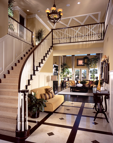 Steps and Staircases「Luxury Stair Entry Interior Design Home」:スマホ壁紙(10)