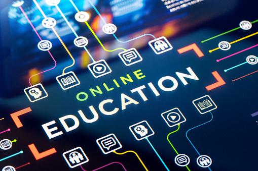 E-Learning「Online education presentation and infographics」:スマホ壁紙(17)