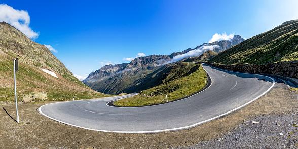 Hairpin Curve「Austria, Tyrol, Oetztal, mountain pass Timmelsjoch」:スマホ壁紙(11)