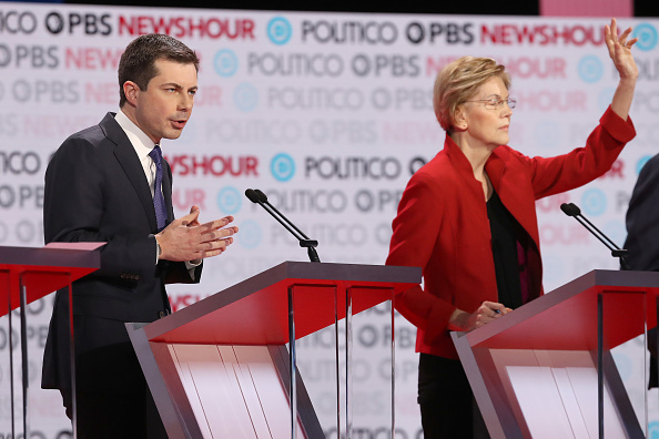 Justin Sullivan「Democratic Presidential Candidates Participate In Last Debate Of 2019」:写真・画像(12)[壁紙.com]