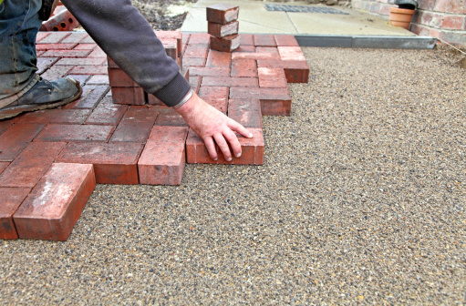 Paving Stone「block paving drive getting layed」:スマホ壁紙(14)