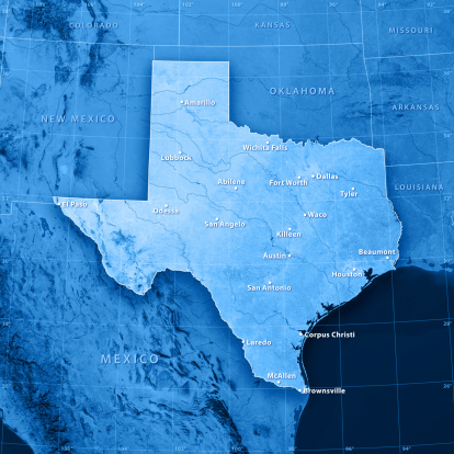 Digital Composite「Texas Cities Topographic Map」:スマホ壁紙(10)