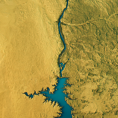 Egypt「Aswan Dam Topographic Map Natural Color Top View」:スマホ壁紙(6)