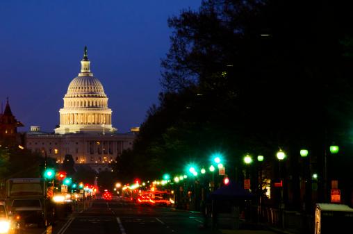 National Landmark「Street lights and US Capitol Building」:スマホ壁紙(16)