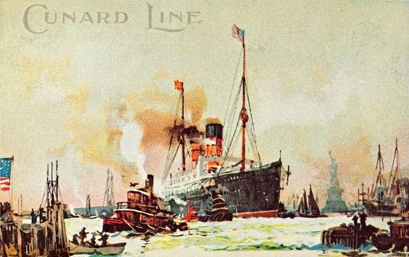 Passenger Craft「A Cunard Occean Liner Enters The North River」:写真・画像(4)[壁紙.com]