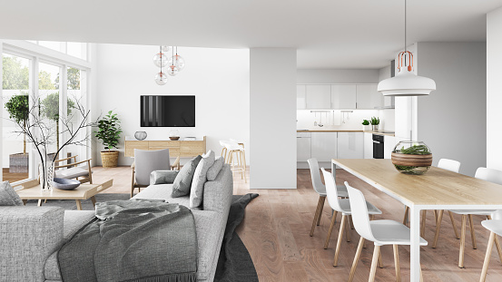 Gray Color「Modern interior」:スマホ壁紙(19)