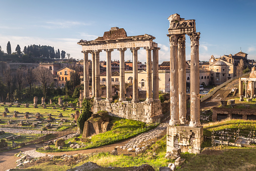 Ancient「The Temple of Saturn in the Roman Forum, Rome.」:スマホ壁紙(18)