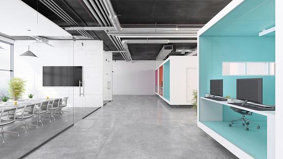 Projection Screen「Contemporary open plan office interior」:スマホ壁紙(15)