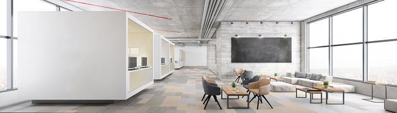 Entrance「Contemporary open plan office interior」:スマホ壁紙(9)