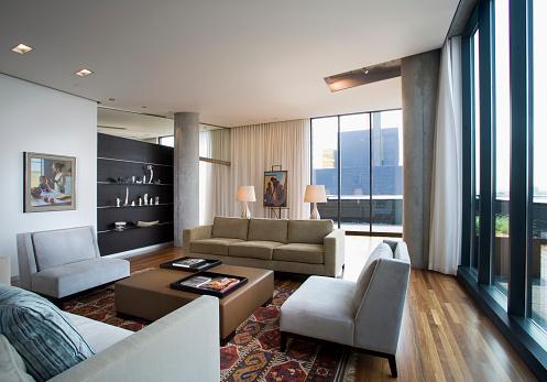 Architectural Column「Contemporary Living Room in Loft Condominium」:スマホ壁紙(16)