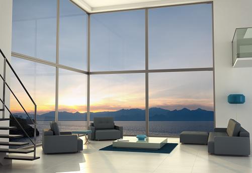 Dusk「Contemporary Loft Interior Design」:スマホ壁紙(7)