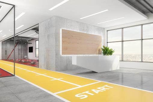 Pilates「Contemporary yoga studio interior」:スマホ壁紙(11)