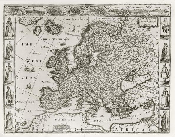 Mediterranean Sea「Speed's Map Of Europe」:写真・画像(6)[壁紙.com]
