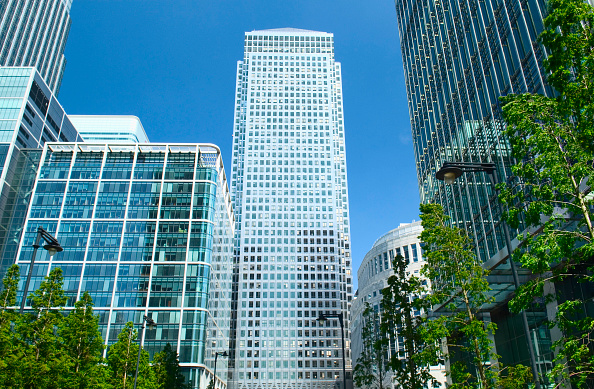 Architecture「Canary Wharf Plaza and One Canada Square, London」:写真・画像(3)[壁紙.com]