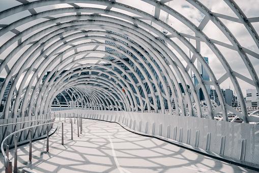 Rooftop「webb bridge , melbourne , australia with shadow cast on the ground」:スマホ壁紙(18)