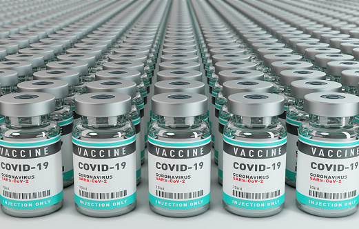 Hope - Concept「Vaccine Covid-19 Corona Virus Concept with large group of bottles vials.」:スマホ壁紙(0)