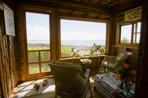 Log Cabin「Log cabin on coast」:スマホ壁紙(13)
