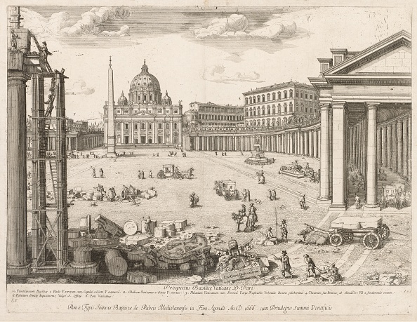 """バシリカ「St. Peters Basilica From """"Prospectus Locurum Urbis Romae Insign[Ium]"""",」:写真・画像(15)[壁紙.com]"""