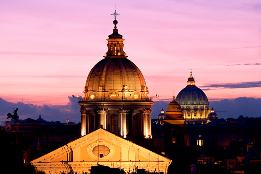 Cathedral「St. Peter's Basilica at twilight」:スマホ壁紙(1)
