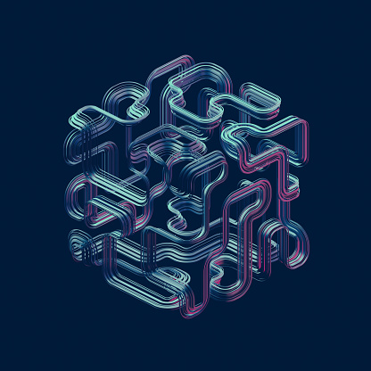Continuity「Complex cube shape」:スマホ壁紙(5)