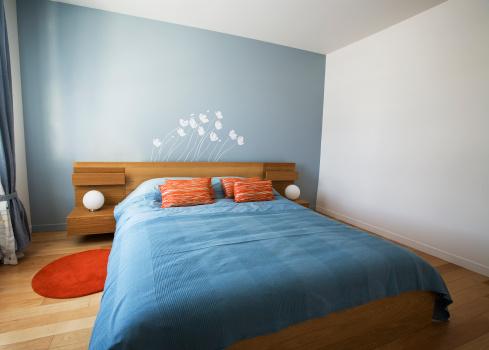 Bedroom「Minimalist designed summer bedroom」:スマホ壁紙(0)