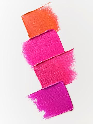 Make-Up「Creative cosmetic smears on white background」:スマホ壁紙(19)