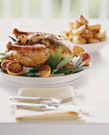 1990-1999「Lemon, herb roasted chicken with roasted potatoes.」:スマホ壁紙(10)