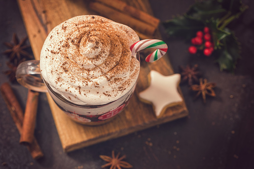 Gingerbread Cookie「Hot Chocolate in a cozy Christmas atmosphere」:スマホ壁紙(4)