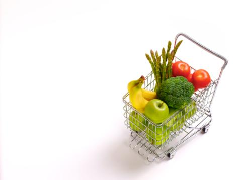Broccoli「5 fruit and vegetables in supermarket trolley」:スマホ壁紙(7)