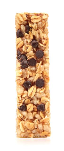 Nut - Food「Granola Bar on White Background」:スマホ壁紙(1)